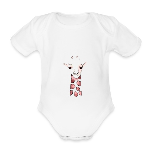 BabyCute 'Giraffe' by Isobel & Kristoff - Organic Short-sleeved Baby Bodysuit