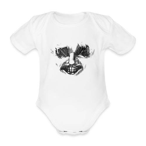 ansiktet stad final - Ekologisk kortärmad babybody
