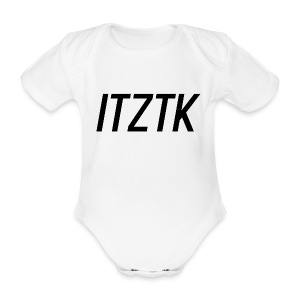 ItzTk black print - Organic Short-sleeved Baby Bodysuit