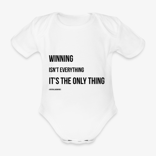 Football Victory Quotation - Organic Short-sleeved Baby Bodysuit