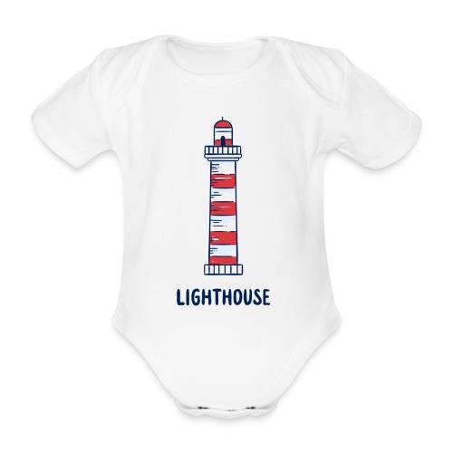 Lighthouse - Baby Bio-Kurzarm-Body