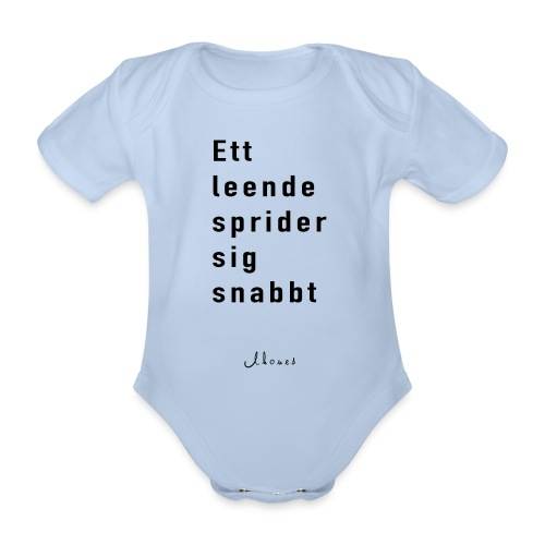 A smile spreads quickly - Organic Short-sleeved Baby Bodysuit