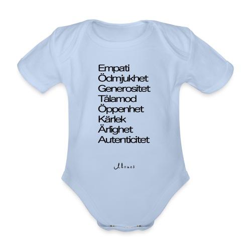 Egenskaper lista - Organic Short-sleeved Baby Bodysuit