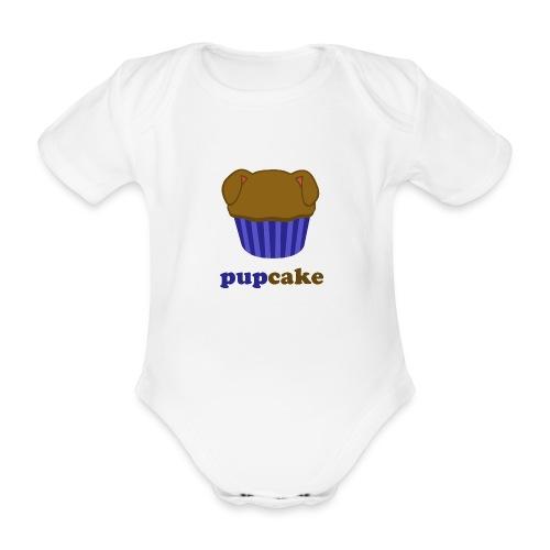 pupcake blauw - Baby bio-rompertje met korte mouwen