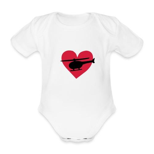 heli_herz - Baby Bio-Kurzarm-Body
