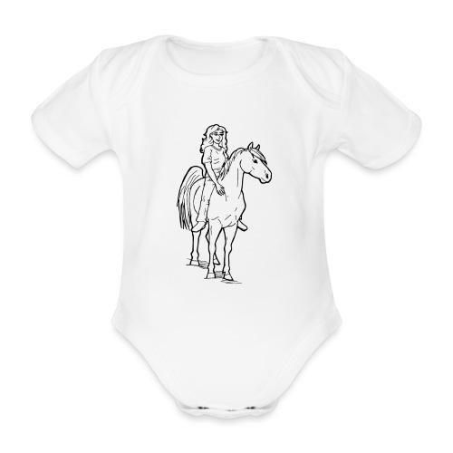 freie Reiterin - Baby Bio-Kurzarm-Body
