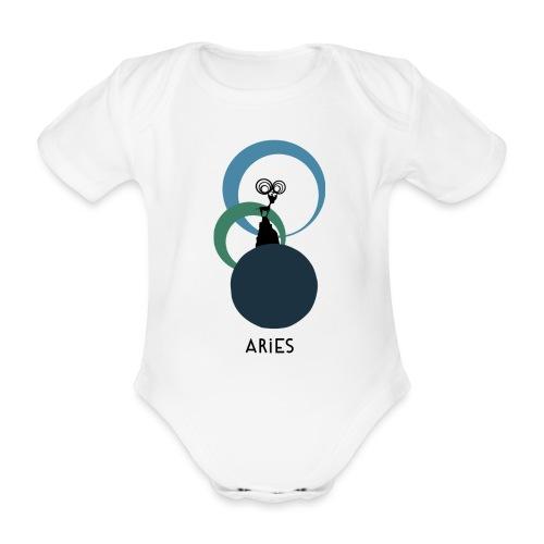 Unconventional zodiac: Aries - Body ecologico per neonato a manica corta