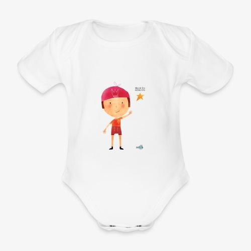 Maglietta mascotte Remo di Magical Dots Jr - Body ecologico per neonato a manica corta