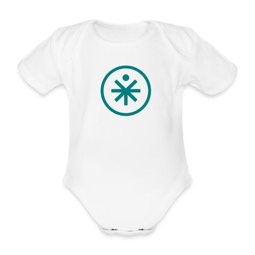 You-Mens cirkel 1 kleur - Baby bio-rompertje met korte mouwen