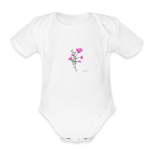 fleure violette - Body Bébé bio manches courtes