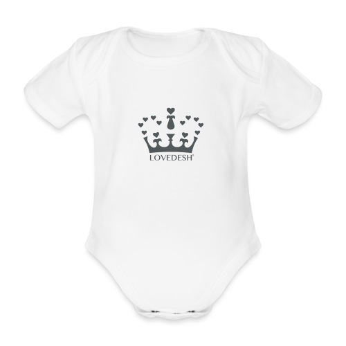 LD crown logo hearts png - Organic Short-sleeved Baby Bodysuit