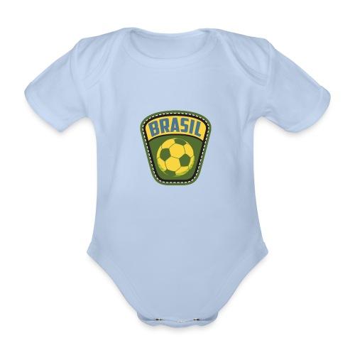 Bola Brasil - Organic Short-sleeved Baby Bodysuit