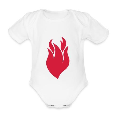 onecolorflame - Baby bio-rompertje met korte mouwen