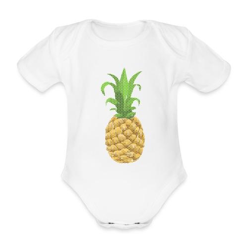 Dots Ananas - Baby Bio-Kurzarm-Body