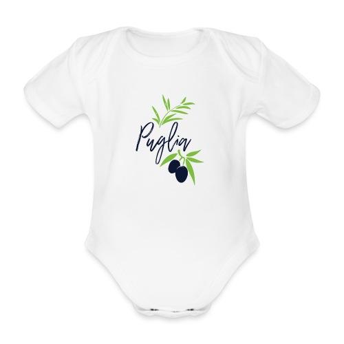 Puglia - Body ecologico per neonato a manica corta