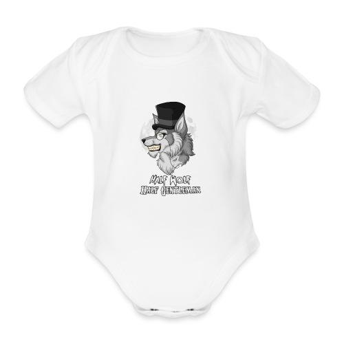 Half Wolf Half Gentleman - Organic Short-sleeved Baby Bodysuit