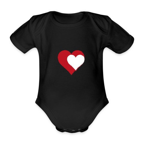 2LOVE - Kortærmet babybody, økologisk bomuld