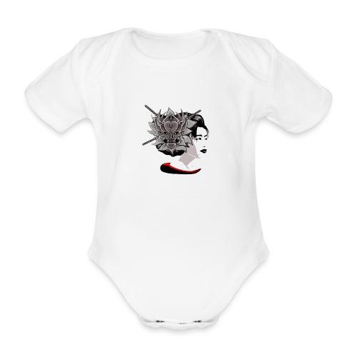 Warrior Flower - Baby bio-rompertje met korte mouwen