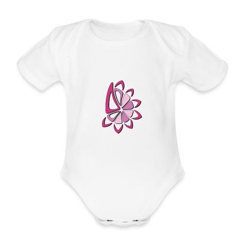 spicchi di sole multicolore rosa - Body ecologico per neonato a manica corta