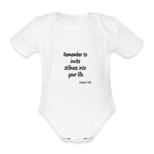 Invite Stillness - Organic Short-sleeved Baby Bodysuit