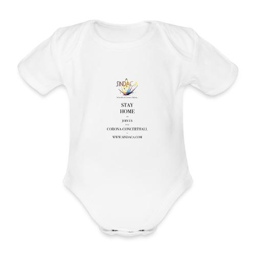 stay home01 - Baby Bio-Kurzarm-Body
