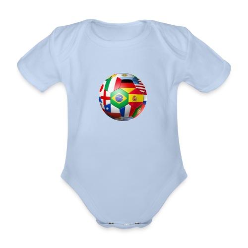 Brasil Bola - Organic Short-sleeved Baby Bodysuit