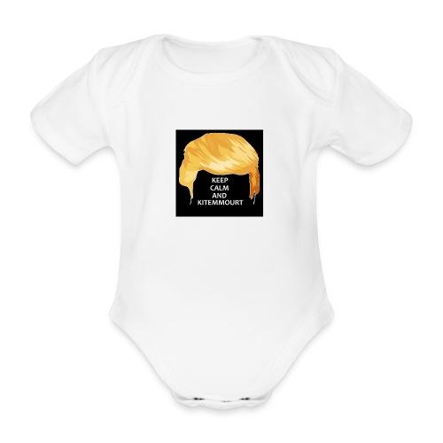Keep Calm And Kitemmuort Capelli Trump - Body ecologico per neonato a manica corta