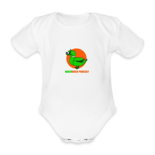 Greenduck Podcast Logo - Kortærmet babybody, økologisk bomuld