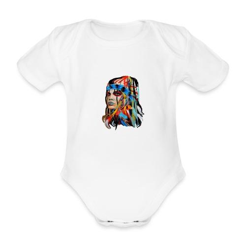 Pióra i pióropusze - Ekologiczne body niemowlęce z krótkim rękawem