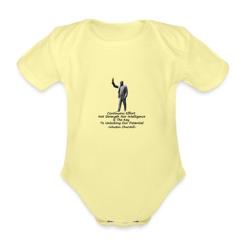 Effort - Organic Short-sleeved Baby Bodysuit