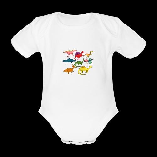 Dinos - Baby Bio-Kurzarm-Body