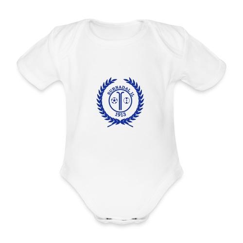 SIL_logo_hvit - Økologisk kortermet baby-body