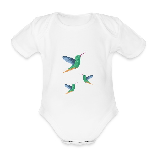 Hummingbird - Group - Organic Short-sleeved Baby Bodysuit