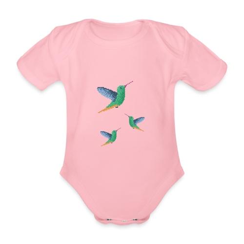 Hummingbird - Group - Organic Short-sleeved Baby Bodysuit
