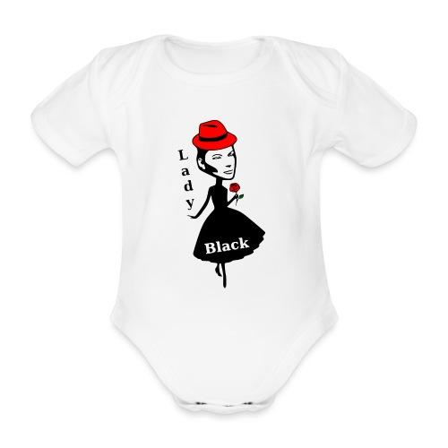 Lady Black/Rot - Baby Bio-Kurzarm-Body