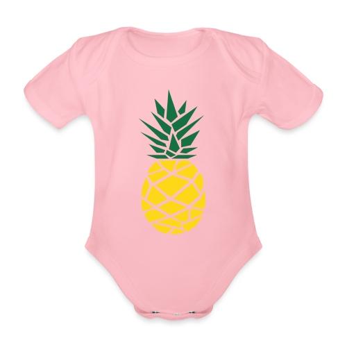 Pineapple - Baby bio-rompertje met korte mouwen