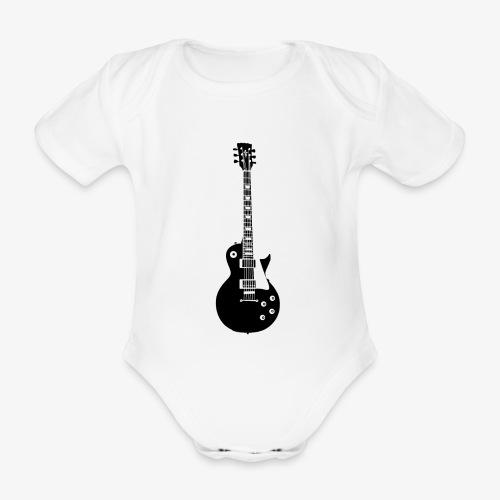 Musikinstrument Gitarre - Musiker T-Shirt Designs - Baby Bio-Kurzarm-Body