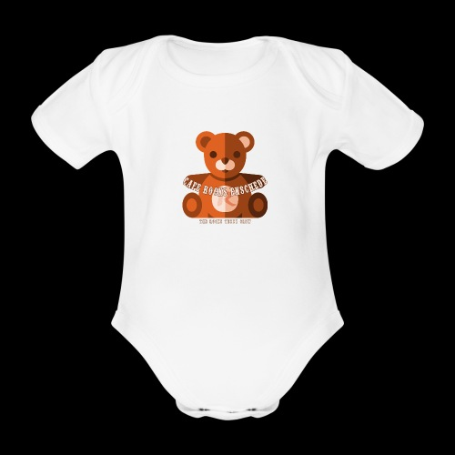 Rocks Teddy Bear - Brown - Baby bio-rompertje met korte mouwen