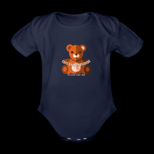 Rocks Teddy Bear - Brown - Baby bio-rompertje met korte mouwen