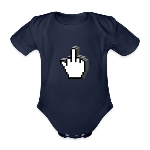 Middle_Finger_Design - Organic Short-sleeved Baby Bodysuit