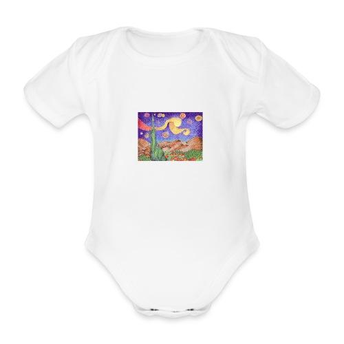 1 - Body orgánico de maga corta para bebé