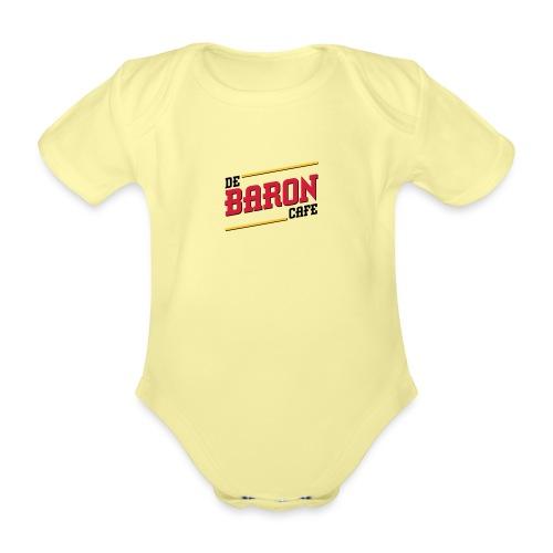 baron logo ai klein kleur - Baby bio-rompertje met korte mouwen