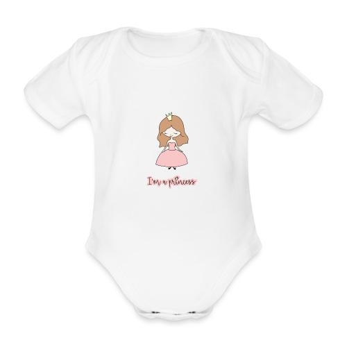 I'm a Princess - Body ecologico per neonato a manica corta