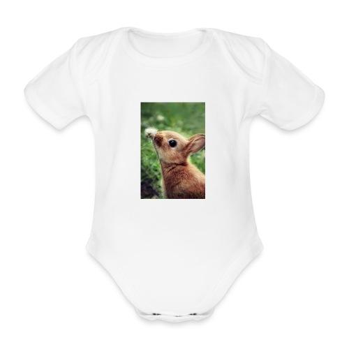 Cute bunny - Organic Short-sleeved Baby Bodysuit