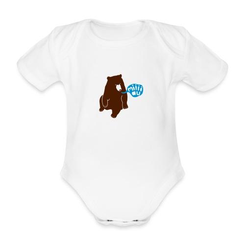 Bär sagt Miau - Baby Bio-Kurzarm-Body