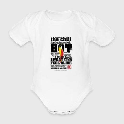 chili - Kortærmet babybody, økologisk bomuld