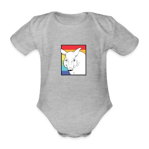 Tapir mit Regenbogen Farben - Baby Bio-Kurzarm-Body