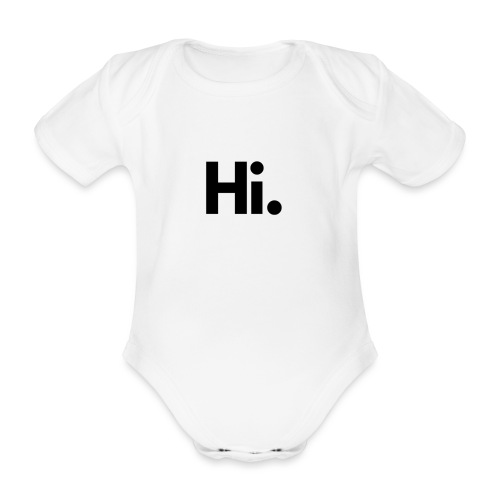Social Fashion - 'Hi' - Organic Short-sleeved Baby Bodysuit