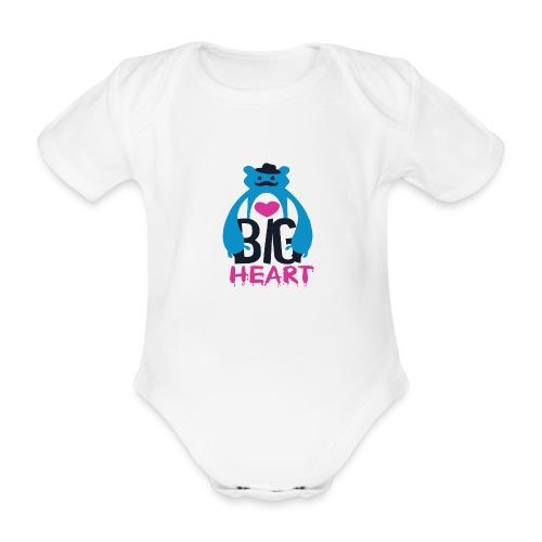 Big Heart Monster Hugs - Organic Short-sleeved Baby Bodysuit