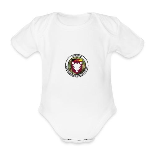 Logo des Laufteams - Baby Bio-Kurzarm-Body
